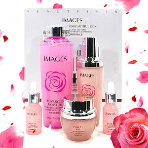 Подарунковий набір по догляду за обличчям Images Advanced Moisture c трояндою комплексний догляд за шкірою обличчя Оригінал