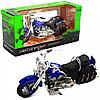 Мотоцикл Автопром HX-796, синій 16х5х10 см (7749)