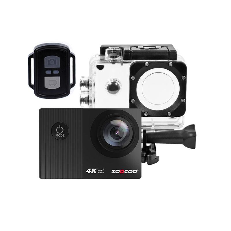 Экшн-камера SOOCOO F91R Black Ultra HD 4K USB 2.0 Wi Fi для видеосъемки 1050мАч пульт кейс подводная съемка