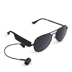 ◯Бездротова блютуз гарнітура окуляри Gelete A8 Black для телефону музики 110 mAh з навушниками Bluetooth 4.1