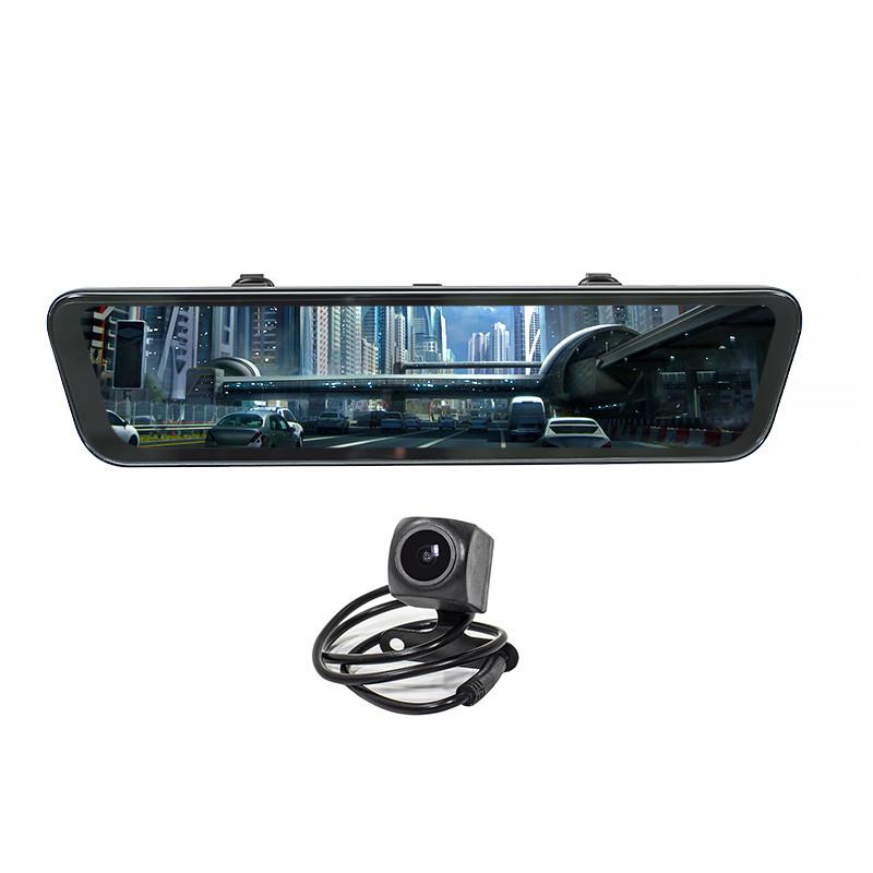 """Автомобильное зеркало-видеорегистратор 12"""" Car Lesko K90 угол обзора 170 градусов карта памяти"""