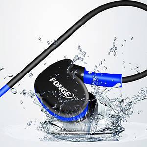 ✓Гарнітура FONGE S500 Синя вакуумна для занять спортом з кріпленням за вухом