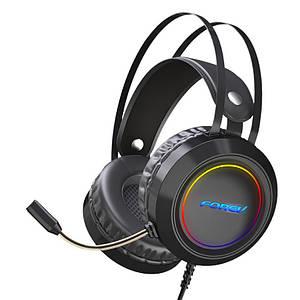 Провідна гарнітура FOREV FV-G95 Black навушники з мікрофоном для ПК 2х3.5 мм + USB