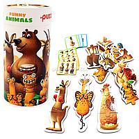 Пазлы Левеня Puzzlika Забавные животные, 27 элементов, 3+ (13579)