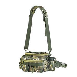 Сумка LEO 28012 Camouflage CP 34*17*16 см для рыболовных снастей