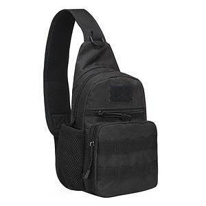 Рюкзак тактичний на одне плече AOKALI Outdoor A14 Black армійський 2L