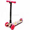 Самокат трехколесный детский MAXI Best Scooter , 4 колеса PU, СВЕТ d=12см (779-1336)