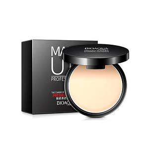 Матирующая пудра BIOAQUA Make Up Professional 10g с зеркалом Тон №1 Natural Color выравнивание