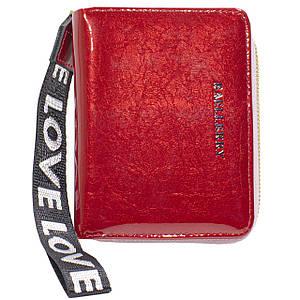 ☇Модный кошелек Baellerry DR022 Red с ремешком удобный компактный для хранения денег и монет