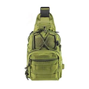 Рюкзак тактичний AOKALI Outdoor B14 Green на одне плече військовий мілітарі