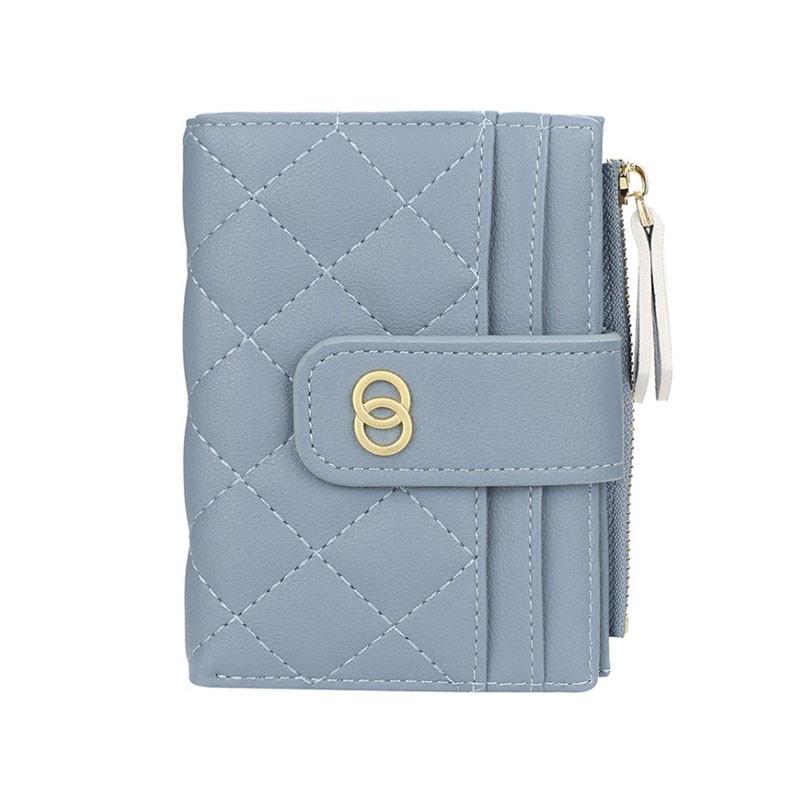 Жіночий гаманець Baellerry DR063 Blue для карт дрібниці на блискавці Байлери
