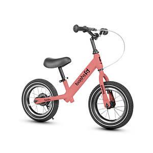 Детский беговел Baishs 002 Pink двухколесный велосипед без педалей с тормозом