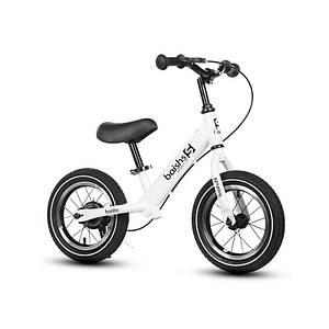 Детский беговел Baishs 002 White двухколесный велосипед без педалей с тормозом
