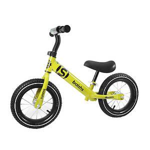 Беговел детский Baishs 058 Yellow двухколесный велосипед без педалей для малышей