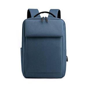 Рюкзак міський Lesko DX-0264 Blue USB сумка для ноутбука навчання тканинна повсякденна