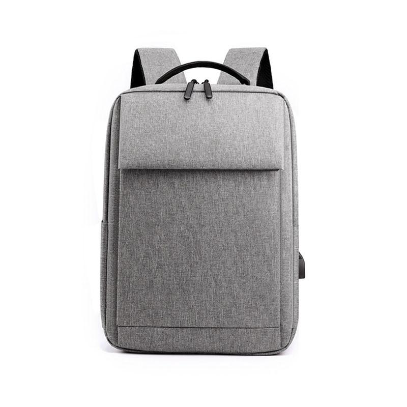 Рюкзак городской Lesko DX-0264 Light Gray с USB сумка для ноутбука учебы тканевая повседневная