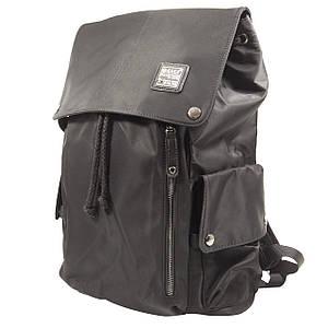 """Рюкзак міський KAKA 2209 Black для ноутбука 15.6"""" водовідштовхувальний кнопки+затягують шнурки чоловічий"""