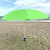 Зонт пляжный d-2,5 м, зеленый, спицы карбон, серебро (MH-3322-G)
