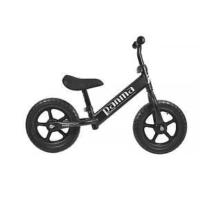 Детский беговел Panma BT-619 Black велобег без педалей для самых маленьких