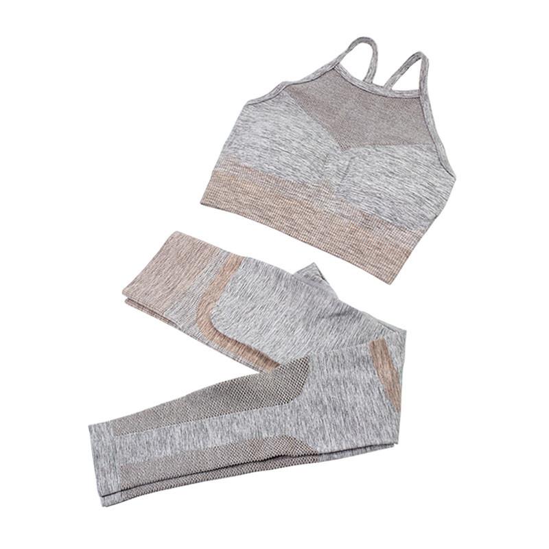 Комплект жіночий лосини і топ Jane The Queen 2002 Grey M для фітнесу йоги спортзалу