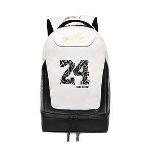 Рюкзак Kobe Bryant 24 Black + White спортивна для занять спортом і фітнесом шкільна сумка