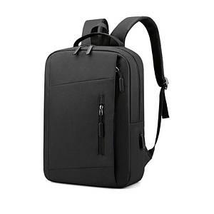 Рюкзак міський Lesko LP-1123 Black тканинний повсякденна сумка для ноутбука