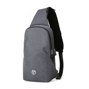 Мужской рюкзак на одно плечо Mazzy Star MS-P056 Light Gray повседневная сумка-мессенджер нагрудная
