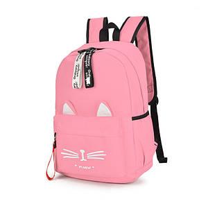 Рюкзак Meow! Lesko 8889 Pink жіночий повсякденний міської тканинний