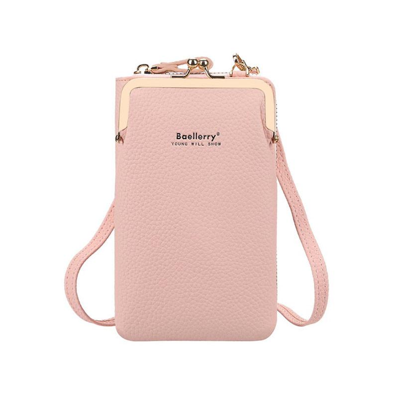Жіночий гаманець Baellerry N8601 Light Pink сумка для дівчат Байлери стильний аксесуар