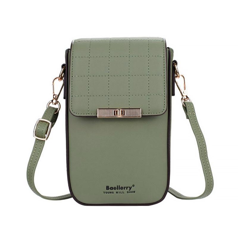 Жіночий гаманець-сумка Baellerry N8612 Green модна Байлери на одне плече стильний аксесуар