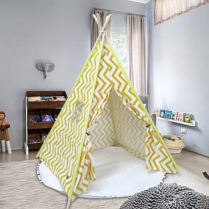 Вігвам Littledove RT-1640 Жовтий зигзаг дитячий ігровий намет