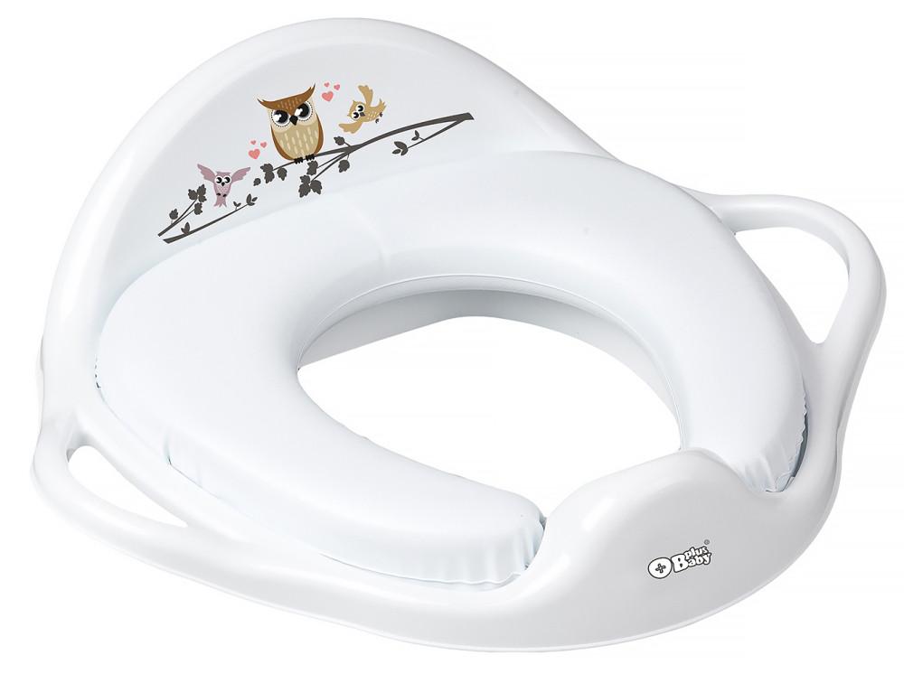 Накладка на унітаз Tega Owl (plus baby) PB-SOWA-020 м'яка 103 white
