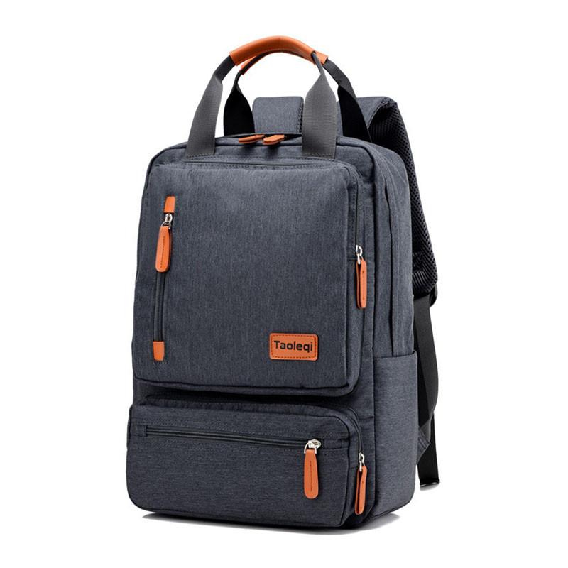Школьный рюкзак Taoleqi 608 Dark Gray компьютерные для школьников студентов молодежный