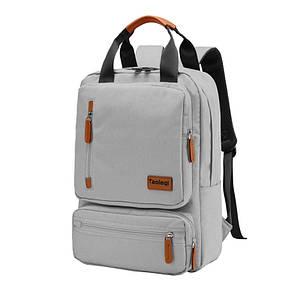 Шкільний рюкзак Taoleqi 608 Gray комп'ютерні для школярів студентів молодіжний