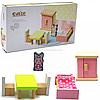 Деревянный игрушечный набор Cubika «Мебель 2» (12640)