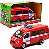 Машинка іграшкова Автопром «Пожежна машина» (світло, звук, пластик), 20х7х10 см (7661-1)