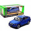 Машинка игровая автопром «BMW X6» джип, 18, синий, свет, звук, двери открываются (6825A)