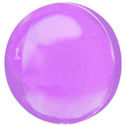 """Фол куля 10"""" СФЕРА Макарун фіолетова 25 см (Китай), фото 2"""