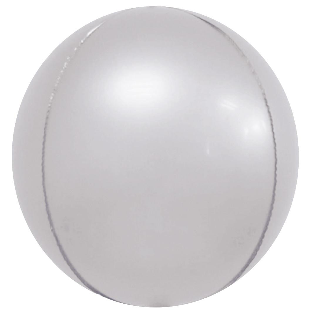 """Фол куля 10"""" СФЕРА Хром срібло 25 см (Китай)"""