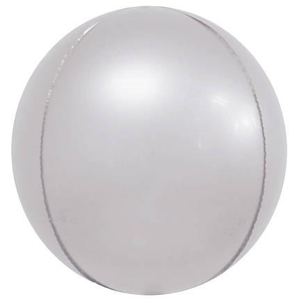 """Фол куля 10"""" СФЕРА Хром срібло 25 см (Китай), фото 2"""
