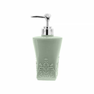 Дозатор для жидкого мыла Lesko А312-01 Квадратный Зеленый диспенсер