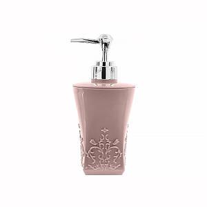 Дозатор для жидкого мыла Lesko А312-01 Квадратный Розовый диспенсер