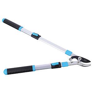 Сучкорез садовый DingKe 690 мм для обрезки веток телескопическая ручка изогнутые лезвия сталь