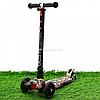 Самокат триколісний Best Scooter різнобарвний пластик, 4 колеса PU, світло d=12см (113-95765)