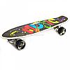 Пенні борд (скейт) з безшумними світяться колеса, ручка (Music) 70822