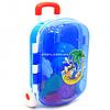 Детский чемодан для игр Технок, синий для игр на пляже и в песочнице, 25х16х35 см (6009)