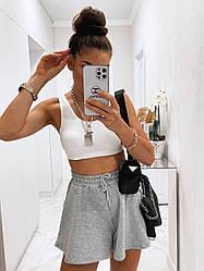 Трендові жіночі розкльошені шортики Gray
