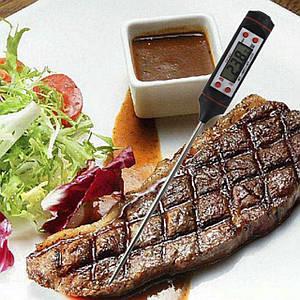 Харчової термометр Lesko TP101 (-50 до +300 С) для м'яса випічки молока нержавіюча сталь з цифровим дисплеєм