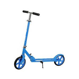 Двухколёсный самокат Scooter 885 Blue для подростков и детей складной с подножкой