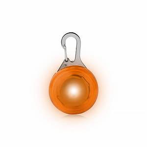 LED подвеска/фонарик Friend HY-0501 Orange на ошейник для собак светящаяся мигающая